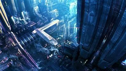 Futuristic 3d Science Fiction Cg Digital Desktop