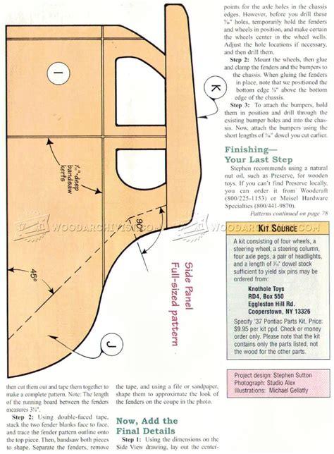 wooden deuce coupe plan woodarchivist
