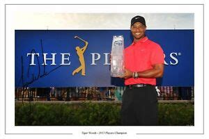 TIGER WOODS PLAYERS CHAMPION 2013 GOLF AUTOGRAPH SIGNED ...