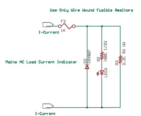 Mains Current Indicator With Led Delabs Schematics