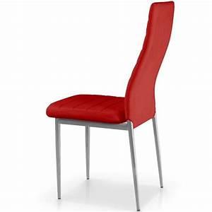 Lot De Chaise Pas Cher : lot de 4 chaises stratus rouge achat vente chaise salle a manger pas cher couleur et ~ Teatrodelosmanantiales.com Idées de Décoration