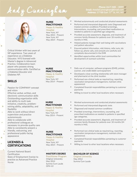 Resume For Practitioner by Andy Cunningham Ii Practitioner Resume Andy