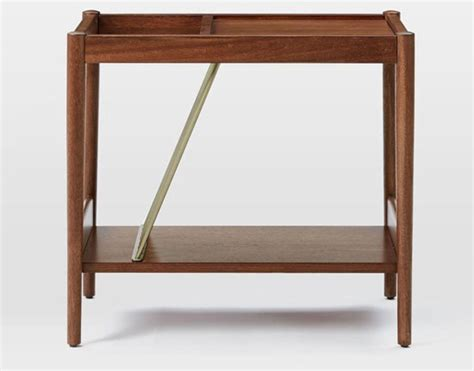 west elm side table mid century magazine side table at west elm