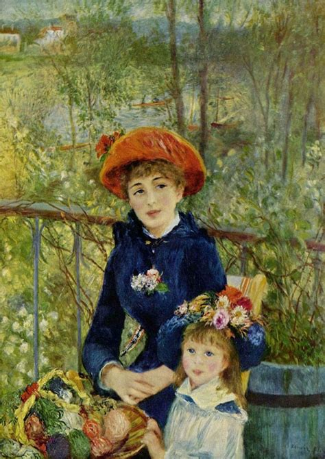 Renoir Pierre Auguste Two Sisters Or On The Terrace 1881