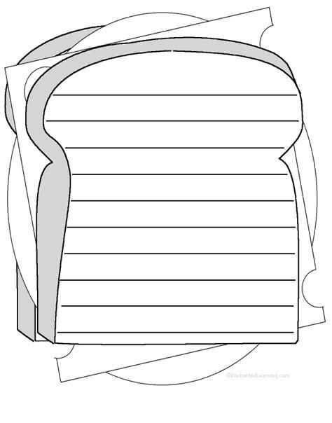 Sandwich Template For Writing Sandwich Shape Poem Printable Worksheet
