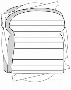 shape poems enchantedlearningcom With sandwich template for writing