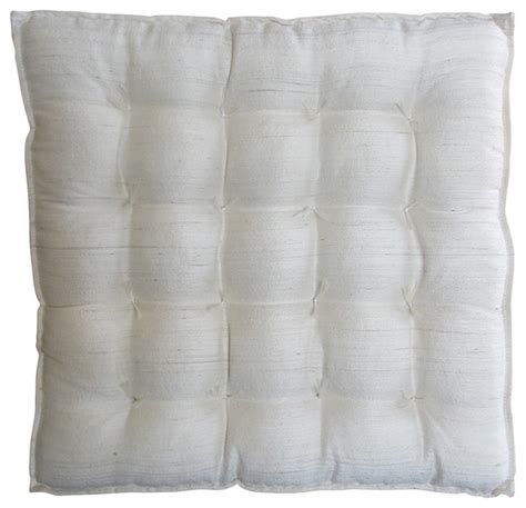 white silk seat cushion traditional seat cushions by
