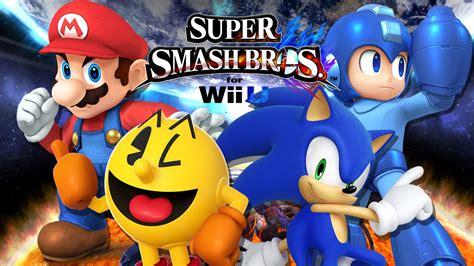 Ssbwii U Mario Vs Pacman Vs Sonic Vs Megaman Duels
