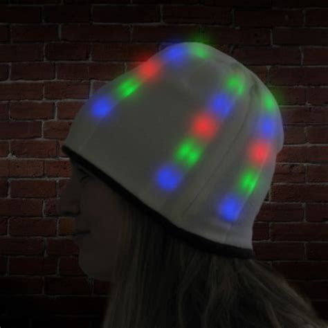 light up hats light up reversible beanie hat