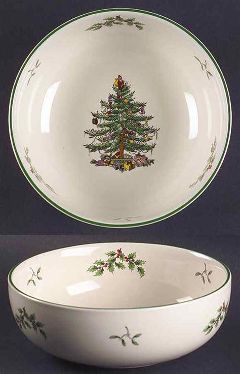 spode christmas tree green trim all purpose cereal bowl