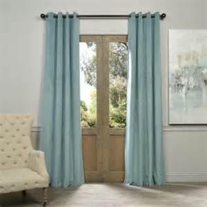 half price drapes grommet blackout velvet single curtain