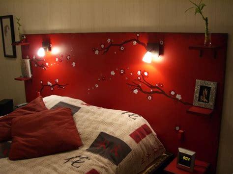 une tete de lit entierement faite maison