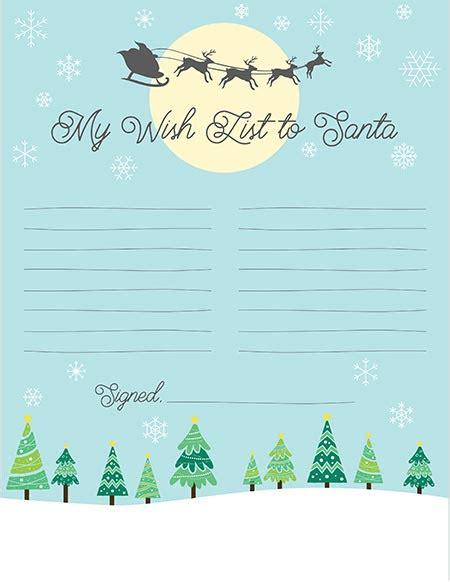 printable christmas list templates  craft eat