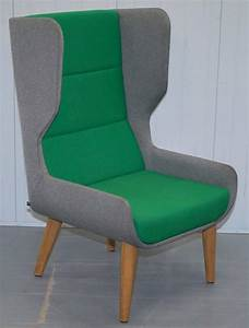 Pair, Of, Naughtone, Hush, High, Wing, Back, Armchairs, Super, Contemporary, At, 1stdibs
