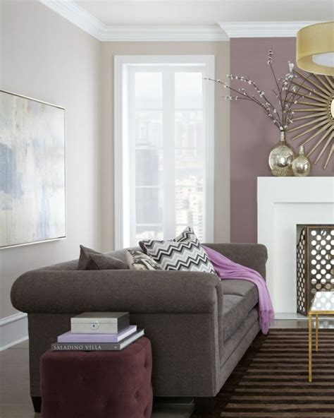 Grey And Purple Living Room Furniture by Wall Color Gray The Background Color In Every