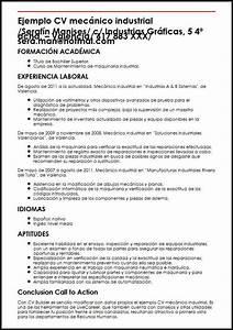 Vitae Resume Ejemplo Cv Mecanico Industrial Micvideal