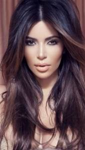 Dark ombre: Kim Kardashian | Hair & Makeup I heart ...