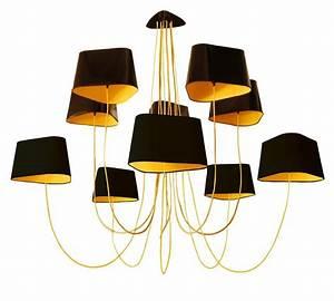 Grand Lustre Design : grand nuage lustre 10 lumi res 223cm laqu noir int rieur ~ Melissatoandfro.com Idées de Décoration