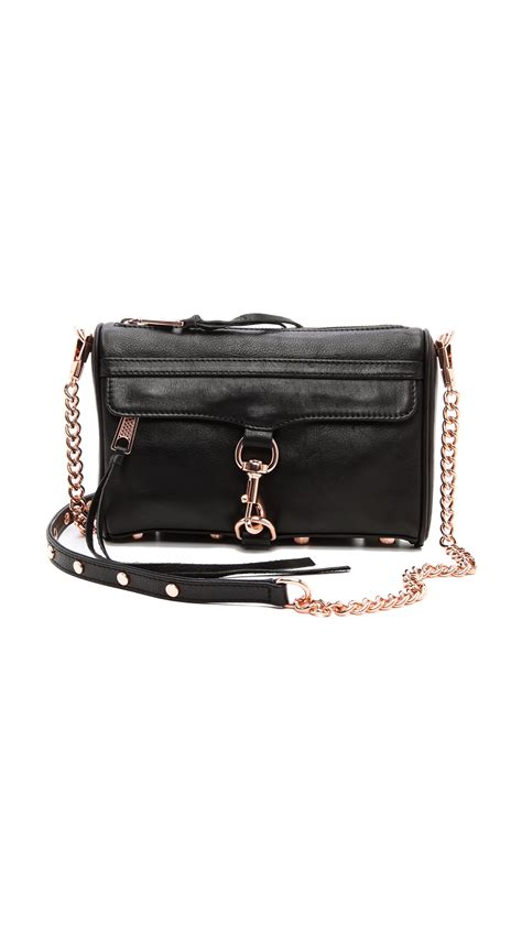 rebecca minkoff mini mac bag  rose gold hardware