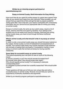 Essay About Science Animal Rights And Ethics Essays Examples College Essay Thesis also Essays On Different Topics In English Animal Rights Essays Conclusion Global Warming Essay Animal Rights  Short English Essays