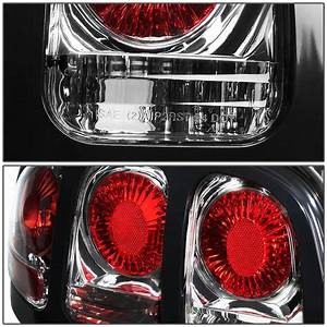 94-98 Ford Mustang Replace Altezza Tail Lights - Chrome