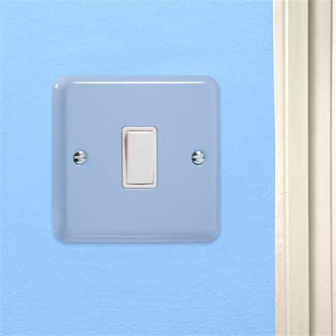 rocker light switch varilight retro pastel duck egg blue rocker metal light