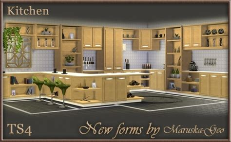 3d kitchen cabinets new forms kitchen at maruska geo 187 sims 4 updates 1084