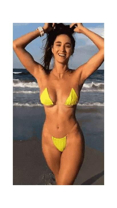 Bikini Gifs Models Izispicy Nude Brunette Yellow