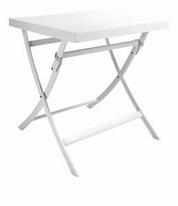 Table De Jardin Blanche : tables de jardins pliante blanche ~ Teatrodelosmanantiales.com Idées de Décoration