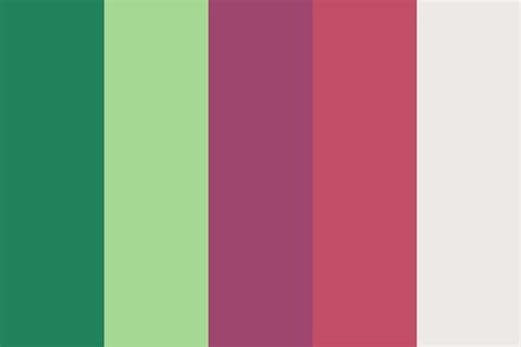 Green And Raspberry Tones Color Palette
