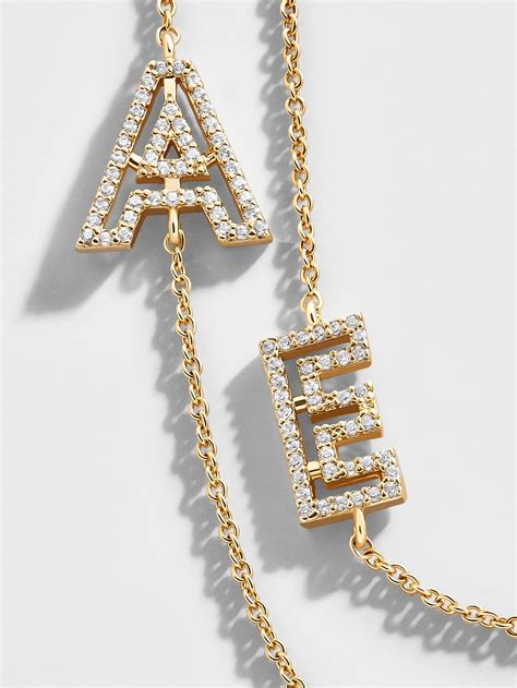 BaubleBar + Dainty Initial Necklace