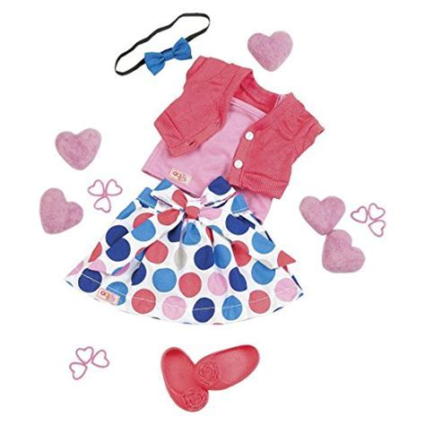 """Our Generation 18"""" Doll Outfit   Polka Dot Skirt & Shrug"""