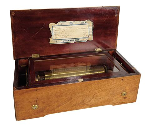 Victorian musical, cylinder,music box, circa 1875 with. Soirée: Antique Dolls and Automata: 247 Swiss Cylinder Music Box