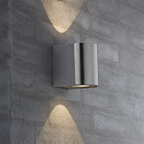 Nordlux Canto Outdoor LED Wall Light   Stainless Steel