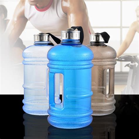 Buy water bottles, including glass water bottles, pet water bottles, and beverage bottles with a variety of different caps in bulk & wholesale. 2.2l Water Bottle with side handle BFA free-.well ...