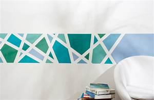 Wandgestaltung Streifen Ideen Bilder : abklebetechnik klebeband frogtape im test ~ Markanthonyermac.com Haus und Dekorationen