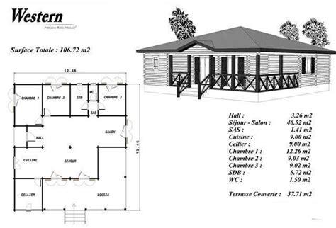 cuisine adapté handicap plan maison bois modéle bouleau loggia en angle balustrade