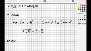 Algebra  Le Leggi Di De Morgan  L58