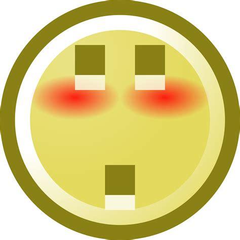 blushing smiley  shocked expression clip art
