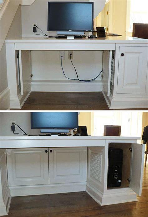 bureau om 8 originele manieren om je kabels weg te werken