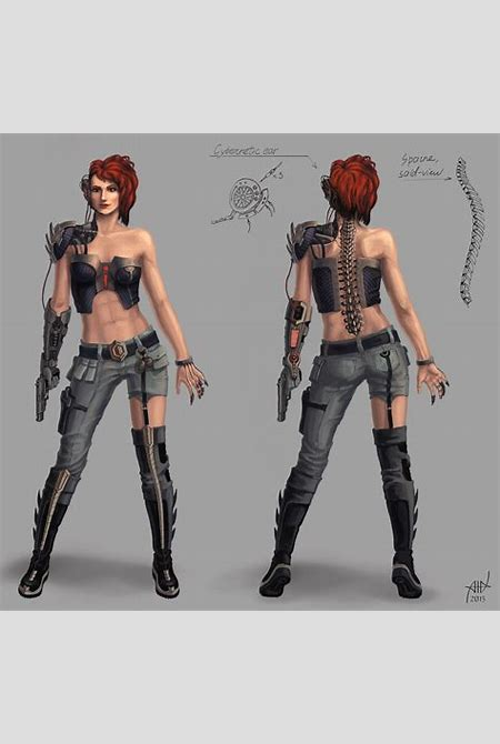 Cyborg girl concept by PVersus on DeviantArt