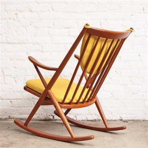 frank reenskaug modern teak rocking chair for sale