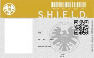 Agents of Shield Blank ID Badge