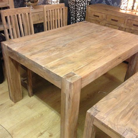 solid acacia wood rustic dining table