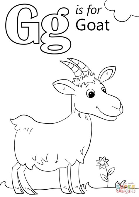 letter    goat coloring page  printable