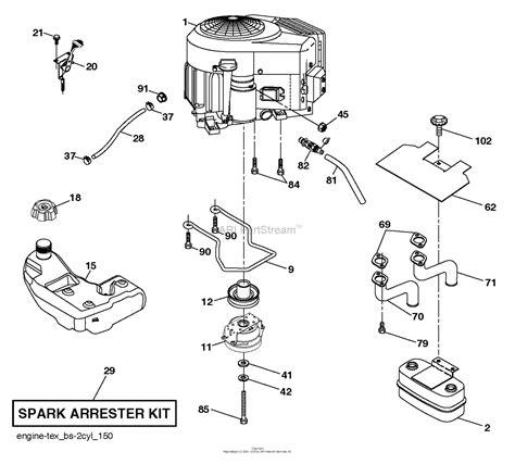 husqvarna ytcs    parts diagram  engine