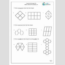 Fractions Of Shapes (quarters, Thirds, Fifths