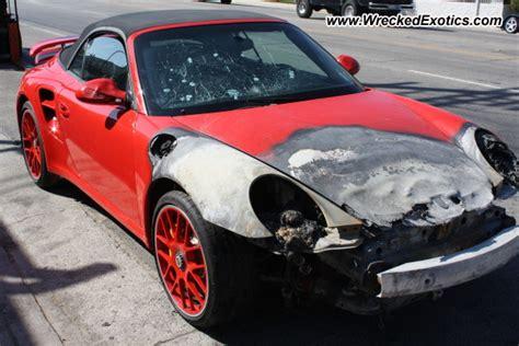bugatti eb110 crash 2012 porsche 997 turbo s wrecked los angeles ca