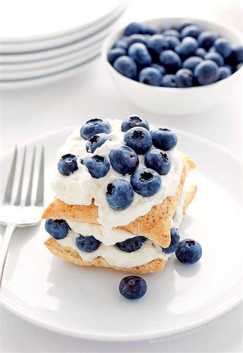 easy blueberry dessert recipes easy blueberry lemon napoleon dessert recipe she wears many hats