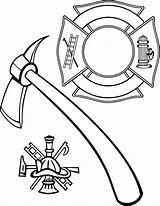 Maltese Fire Coloring Cross Firefighter Department Fireman Hat Helmet Vector Rescue Extinguisher Lollipop Printable Hydrant Clip Drawing Stencil Ems Hook sketch template